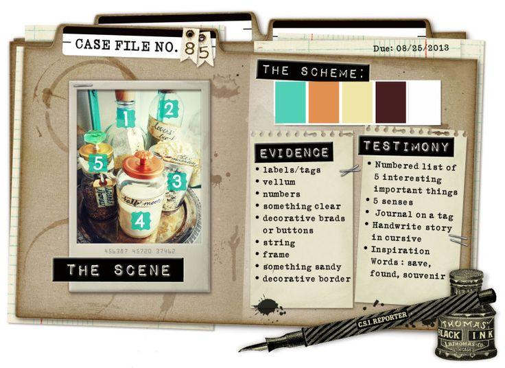 Case File No. 85 {Case closes on August 25, 2013} - CSI: Color, Stories, Inspiration