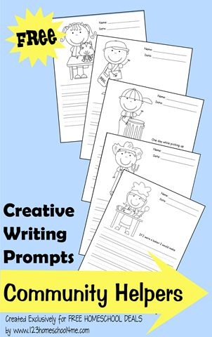 creative writing activities using pictures as centerpieces