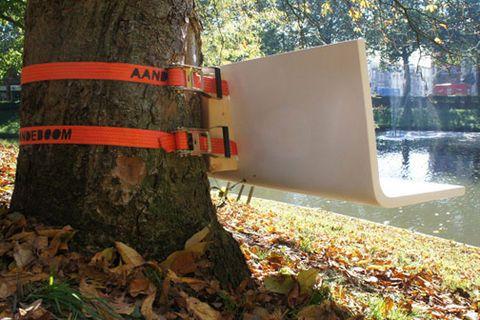 greffe mobilier urbain sur des éléments naturels ou d'architecture