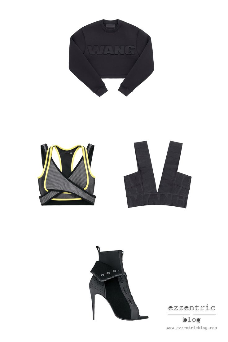 #AlexanderWang x #h&m . I can't wait to get my hand on these babies! More on http://ezzentricblog.com/five-must-have-black-items-fw-2014/  #fashion #blog #hongkong #bra #bralet #heels #black