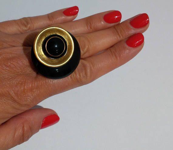 collezione Vintage anello regolabile con bottoni vintage.