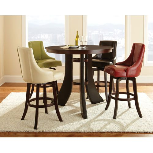 Steve Silver Company Brooks 30 Inch Swivel Bar Stool In Brown Kitchen Table SetsDining