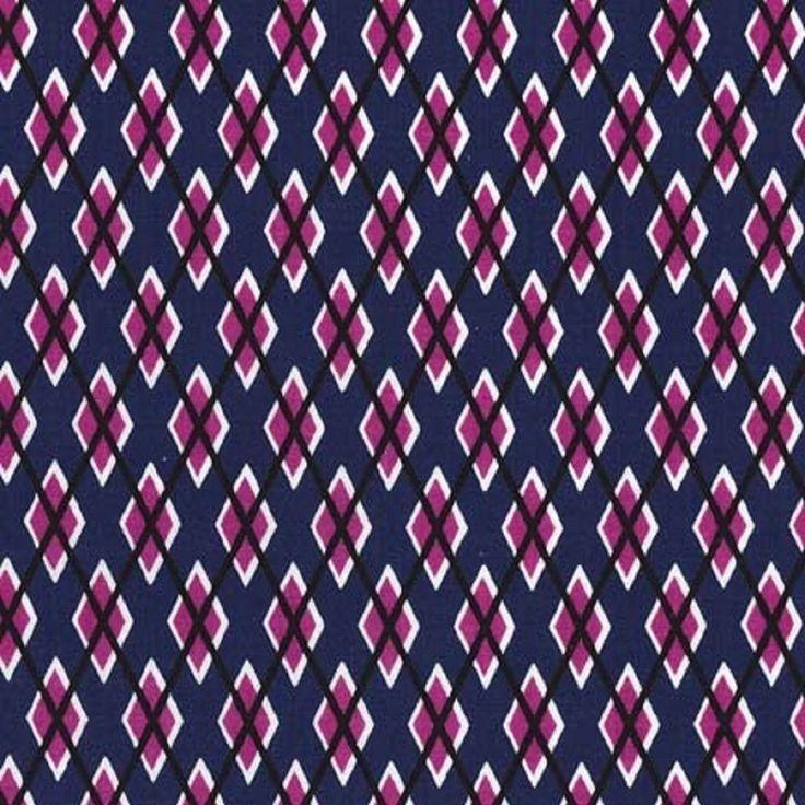 Michael Miller Argyl Me Passion 100% Cotton Fabric