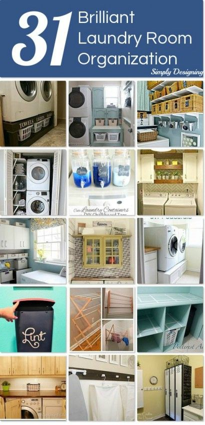 Laundry Room Organization Ideas featured on Simply Designing