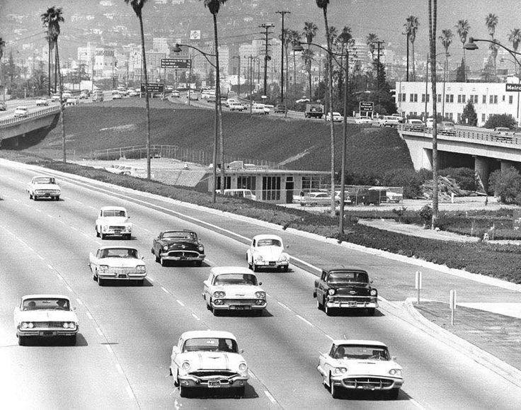 Hollywood Freeway in 1963