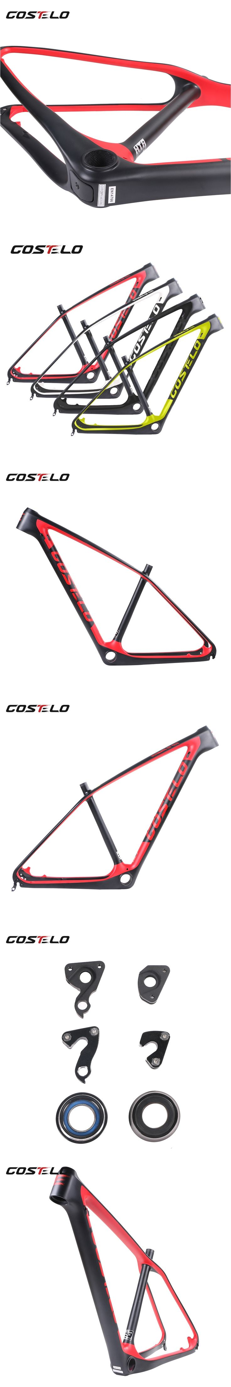 2017 Costelo full carbon ultimate CF Mountain MTB Bicycle Carbon Frame UD Carbon Fiber Bicycle Frame 27.5er 29er bicycle frame