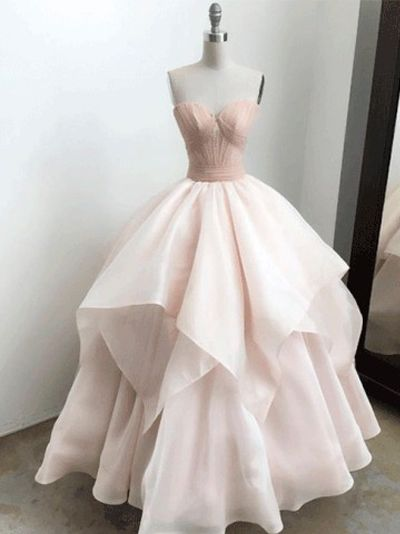 pink sweetheart long prom dresses evening dresses   #prom  #promdress #promdresses  #eveningdress #eveningdresses