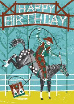 Roger la Borde | Rodeo Greeting Card by Alice Patullo