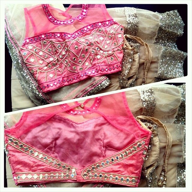 Having a full on #OMG moment with this custom design #Mirrorwork #Lehenga coming…
