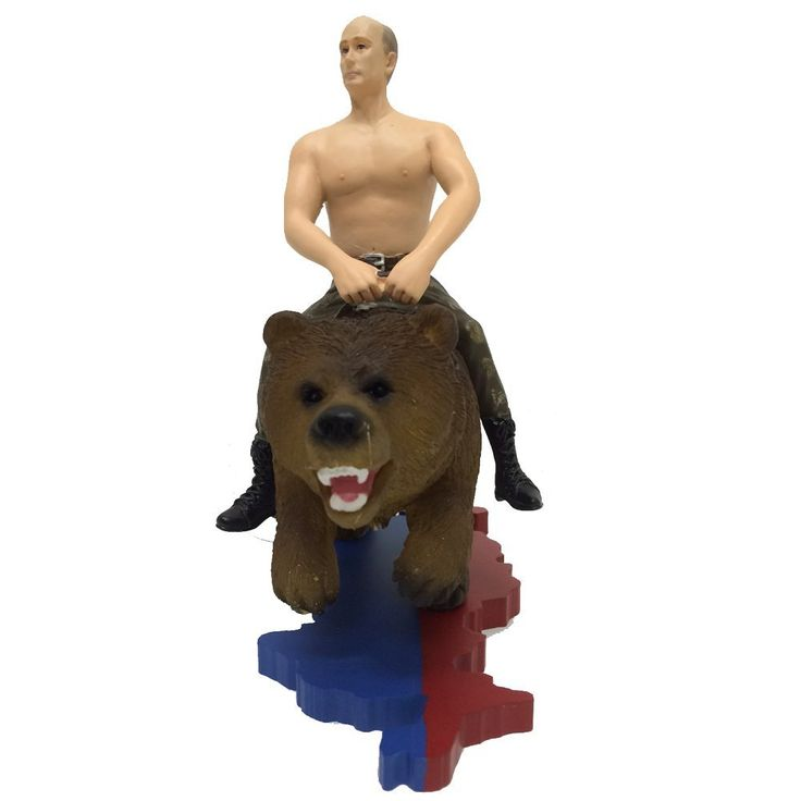 Shirtless Vladimir Putin Riding a Bear
