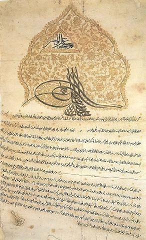 Ferman of Sultan Osman III-1757