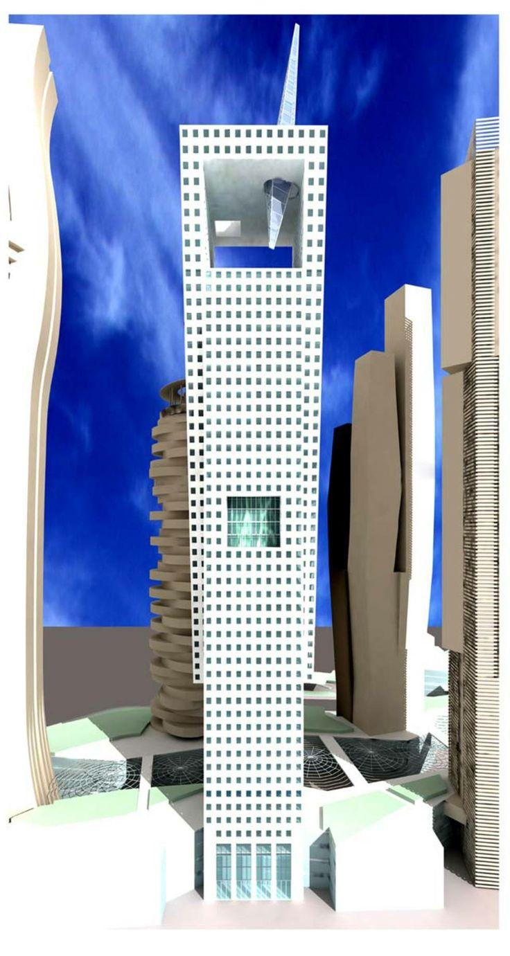 """""""cinque Torri Per Shanghai"""" - Torre Leonardo, Franco Purini"""