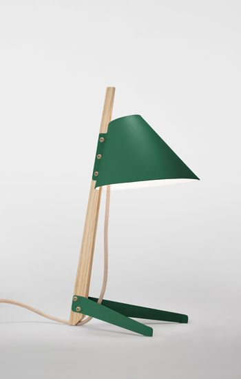 Billy proves that utilitarian design the honest construction of simple materials-can both reflect an industrial heritage and perfectly accent a domestic environment. The table lamp comprises three matt-lacquer metal pieces projecting from a hardwood stem, which is unstained but finished in a clear protective coating.