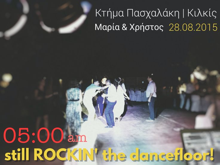 05:00am still rockin' the place