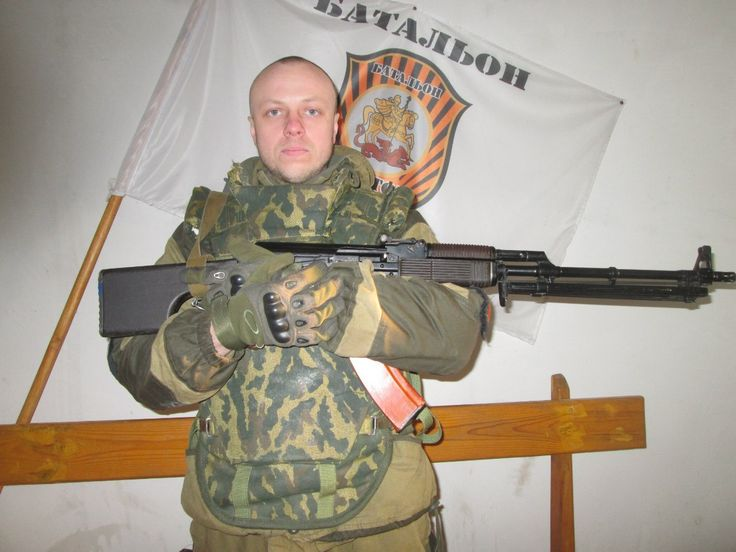 Vostok batalion member with RPK74m post-soviet Russian made moderniyation of RPK74. (russian body armor and uniform of course)