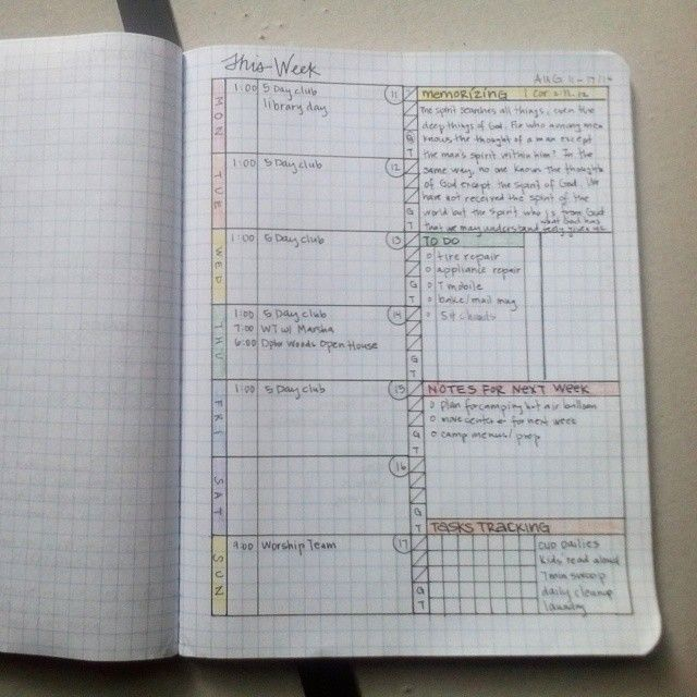 Updated My Weekly Spread Because Ive Noticed I Somehow Like Columns Of Info A Little More Than