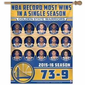 Golden State Warriors WinCraft 73 Wins 27x37 Vertical Banner