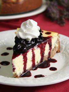 Blueberry hazelnut cheesecake