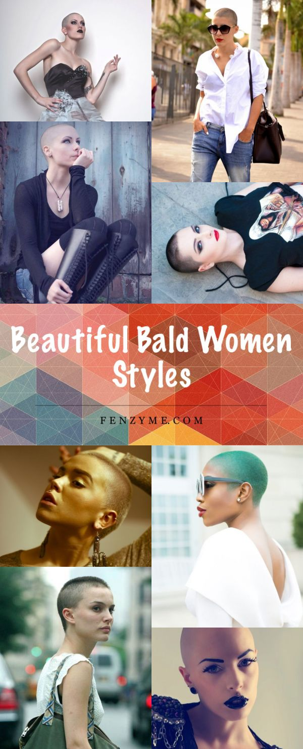 40 Beautiful Bald Women Styles to get Inspired with ||| Beautiful Bald Women ||| Bald Women ||| Fenzyme.com