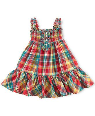 Ralph Lauren Baby Girls' Plaid Dress