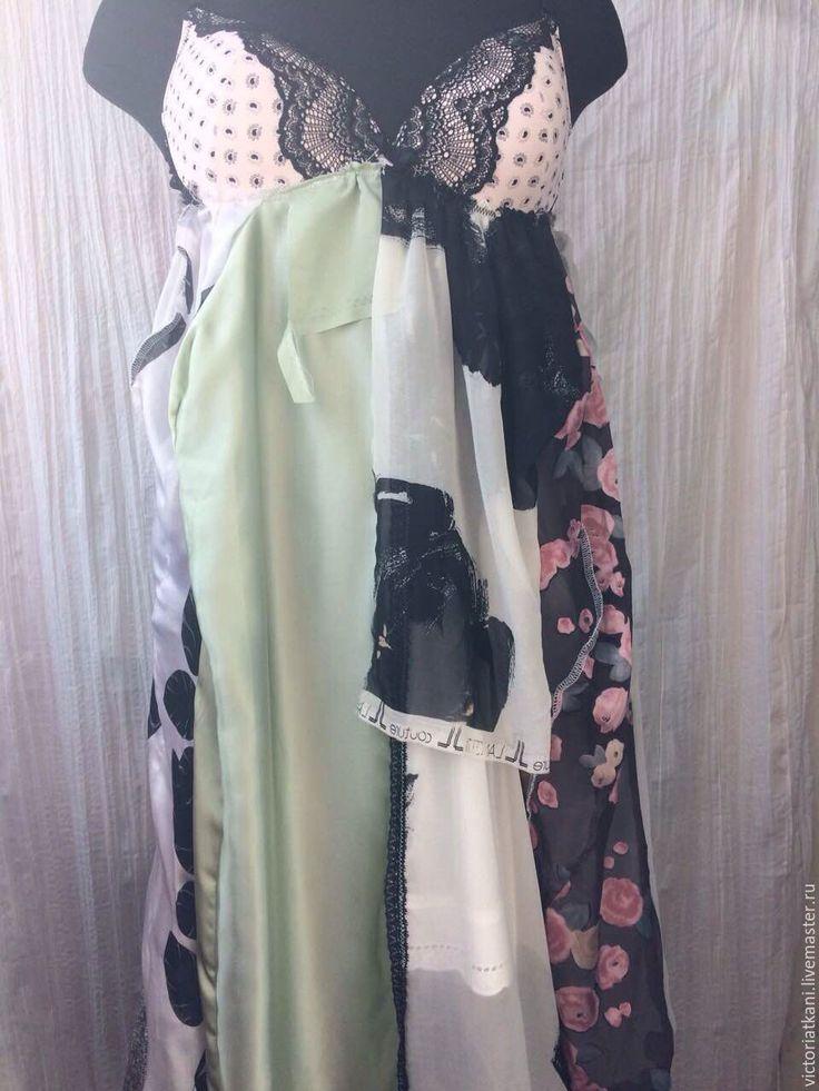 """Купить Платье бохо-шик """"Нега"""" - комбинированный, абстрактный, платье в стиле бохо, бохо стиль"""
