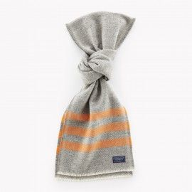 Trapper Wool Scarf / Gray and Mustard | Red Rolling Pin