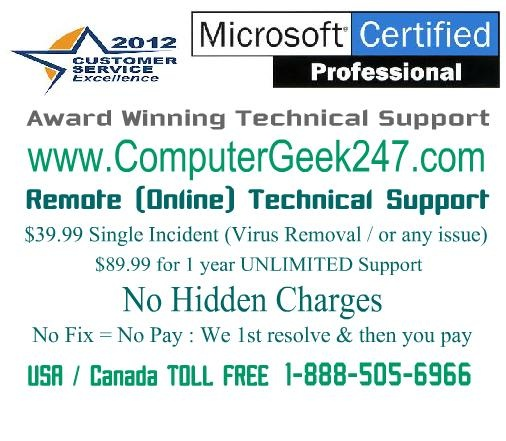 Virus Removal & Remote PC Support at just $39.99