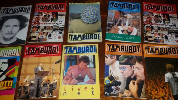 Jovanotti Fun club TAMBURO magazine.Tamburani dove siete?? Che bella storia che e' stata!
