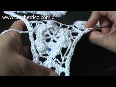 Crochê Irlandês - Parte 08 - Vídeo 01/02 - Delimitação - YouTube