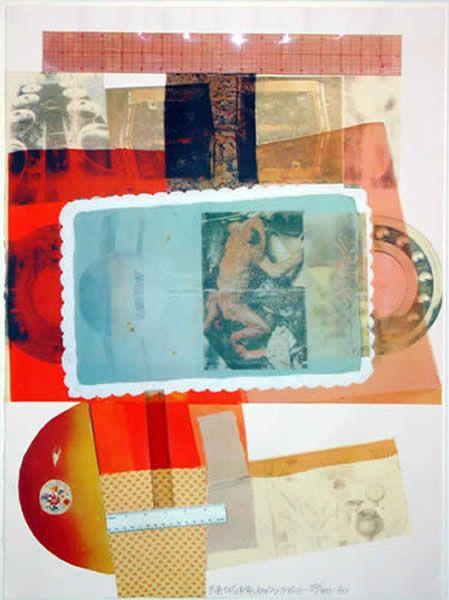 Robert Rauschenberg Screen print collage