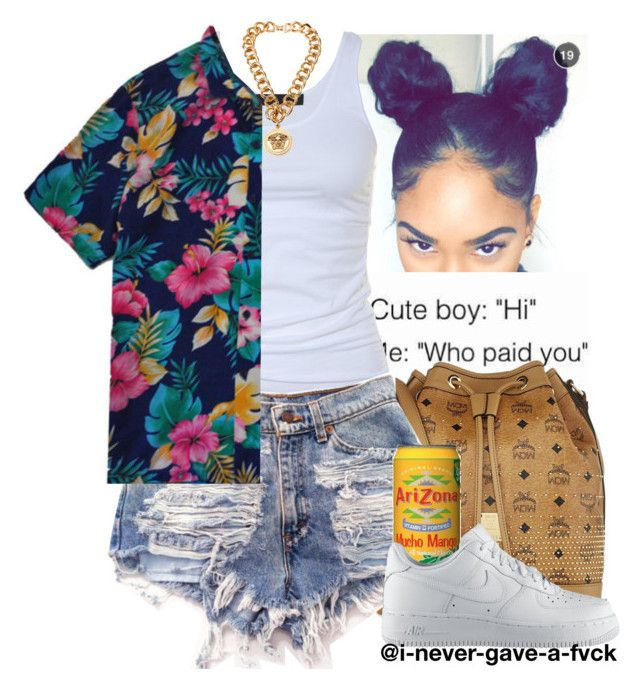 """""""Chris Brown // Zero"""" by i-never-gave-a-fvck ❤ liked on Polyvore featuring Tusnelda Bloch, Versace, MCM, MANGO and NIKE"""