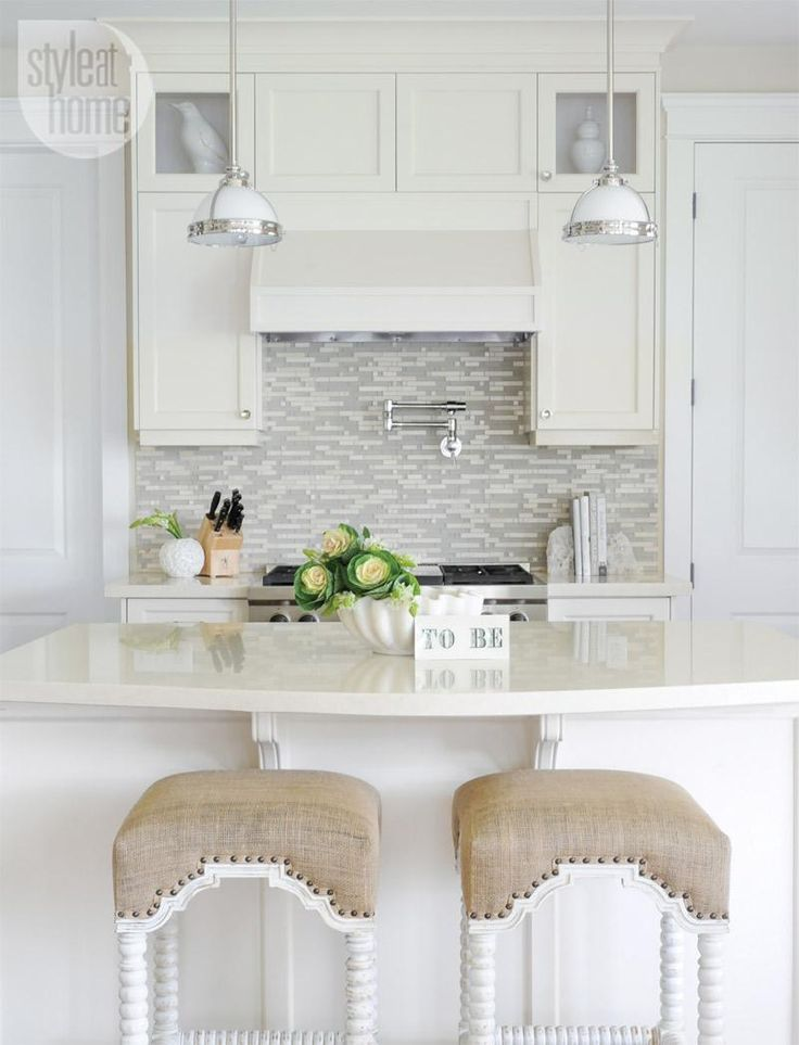 Soothing neutral kitchen