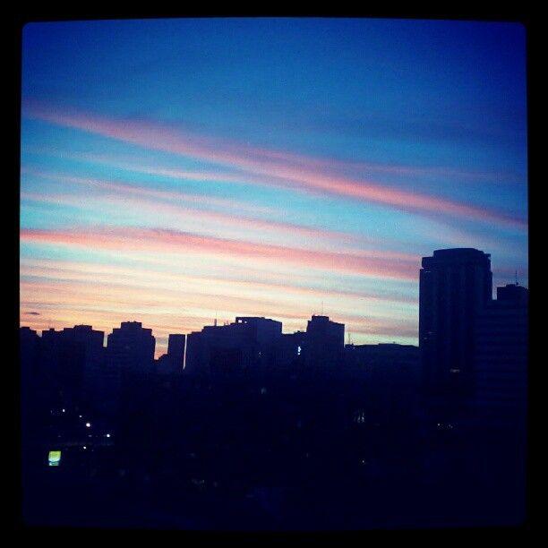 Sunset in Curitiba, Brazil