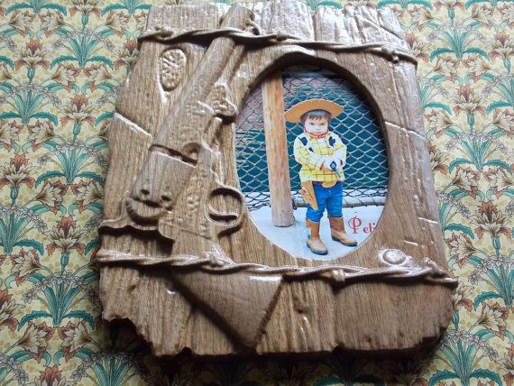 SALE CLEARANCE, Western Picture Frames, Barbed Wire Picture Frame, Rustic Country Frame, 3D Wood Carving