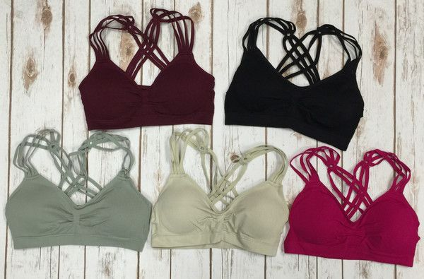 Padded Bralette with cute straps One Size fits most
