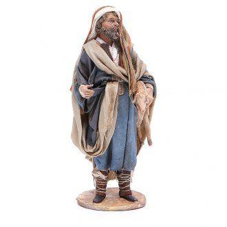 Buon pastore 18 cm Angela Tripi terracotta | vendita online su HOLYART