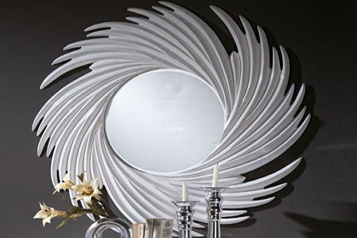 Espejo cronos en color blanco