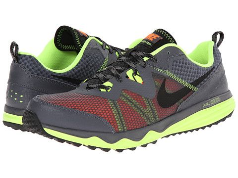 Nike Dual Fusion Trail Dark Grey/Volt/Hyper Crimson/Black - 6pm. Men  Running ShoesMens ...