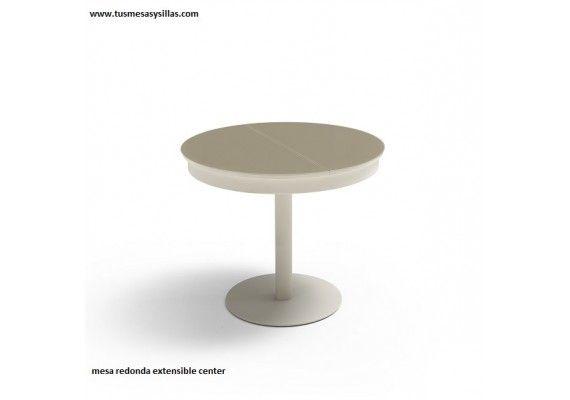 Mejores 33 im genes de mesas redondas de cocina y comedor - Mesa redonda extensible 90 cms ...