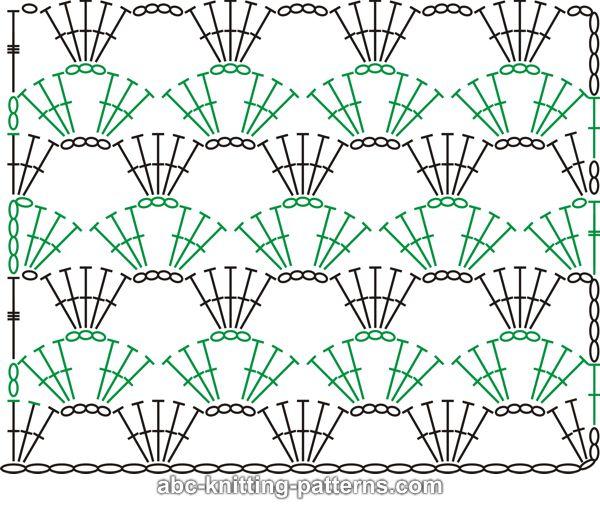 Marisabel crochet: Diagrama o puntos para tejer