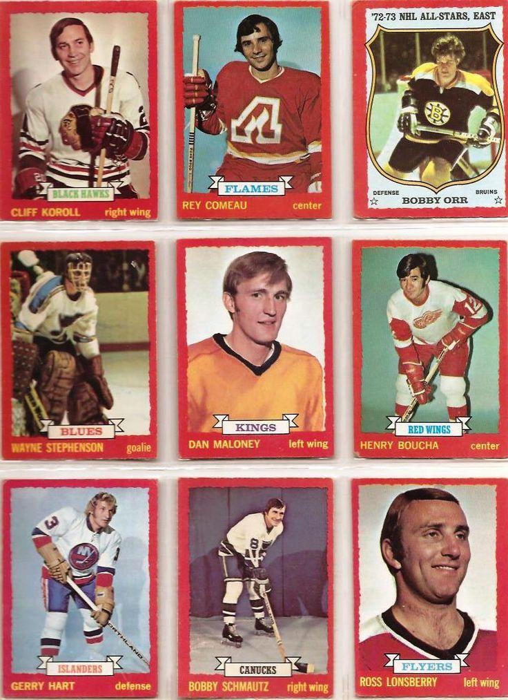 28-36 Cliff Koroll, Rey Comeau, Bobby Orr, Wayne Stephenson, Dan Maloney, Henry…