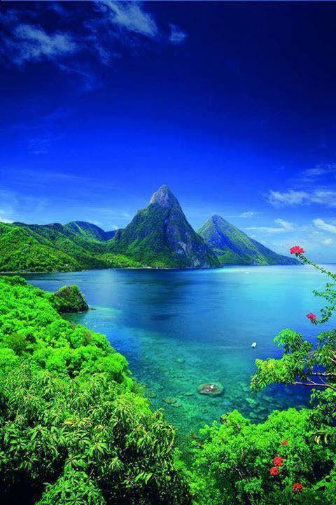 Saint Lucia, the Carribean islands.