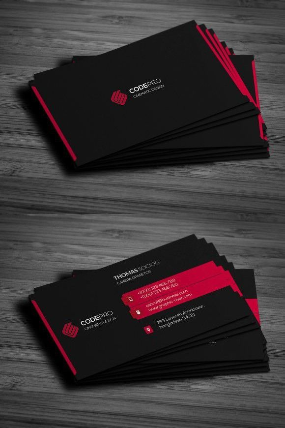 Black Business Card Black Business Card Professional Business