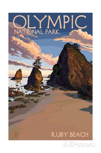 Olympic National Park, Washington - Ruby Beach Art Print
