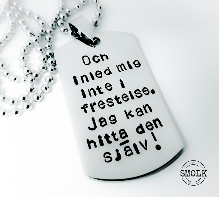 Och Inled mig inte i frestelse. Jag kan hitta den själv! via SMOLK -Handstamped jewelry with a twist. Click on the image to see more!