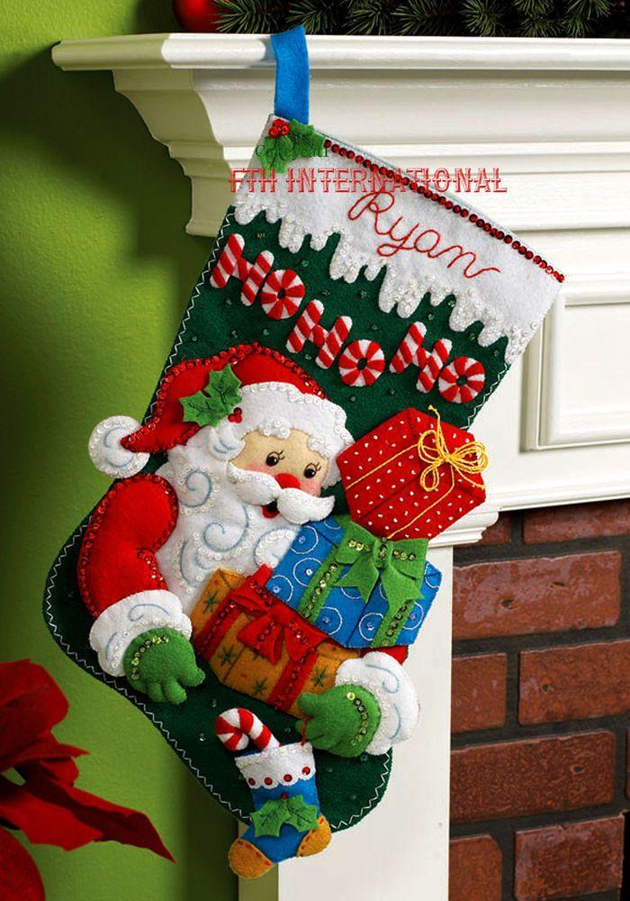 """Bucilla ho-ho-ho Santa ~ 18 /""""De Fieltro De Navidad Kit De Siembra # 86120 Regalos presenta"""