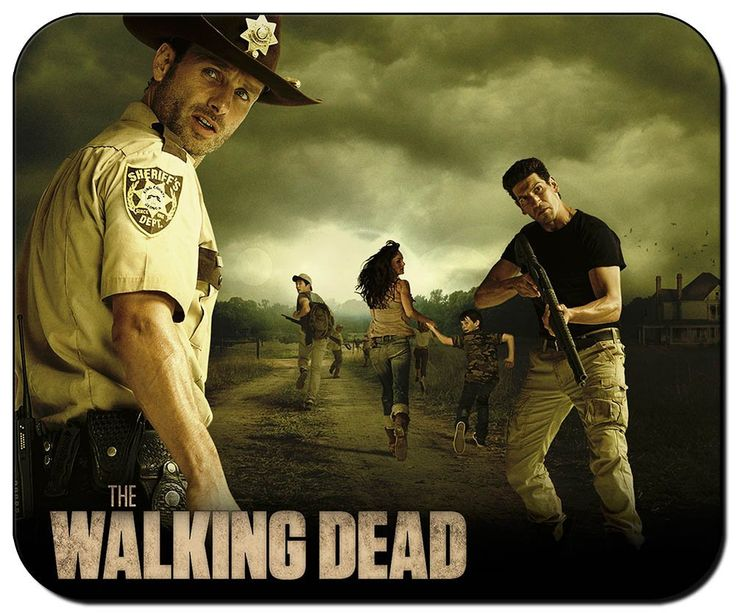 "Tapis de souris ""Walking Dead"" Saison 2 avec Rick Grimes, Shane, Lori, Carl, Glenn et la ferme d'Hershel. #mousepad #tapis #souris #walkingdead"