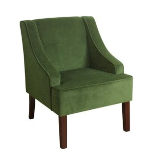 Shop for HomePop Velvet Swoop Arm Accent Chair. Get free shipping at Overstock.com - Your Online Furniture Outlet Store! Get 5% in rewards with Club O!