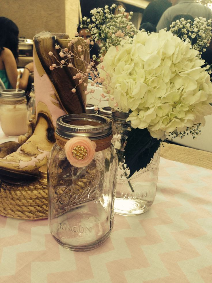 Best ideas about cowgirl party centerpieces on