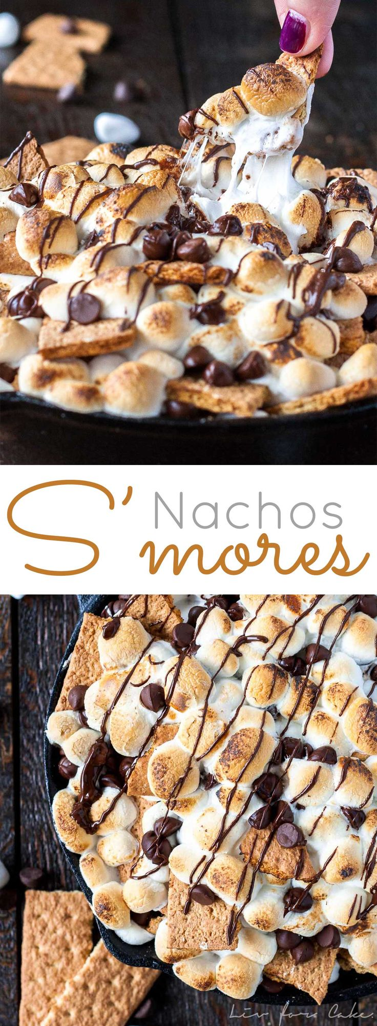 These S'mores Nachos are the easiest dessert you will ever make. Just 10 mins and 3 simple ingredients! | livforcake.com